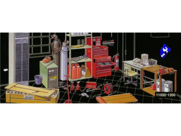 fujimi maquette voiture 11032 accessoires garage 1/24