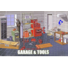 Fujimi maquette voiture 11118 Garage et outils 1/24