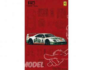 Fujimi maquette voiture 101705 Ferrari F40 TOTIP 1/16