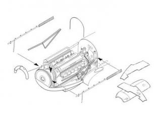CMK kit amelioration 7226 SET MOTEUR pour SPITFIRE Mk.I airfix 1/72