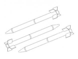 CMK kit amelioration 5079 ROQUETTES US HVAR 5 inch. (Tous kits) 1/32