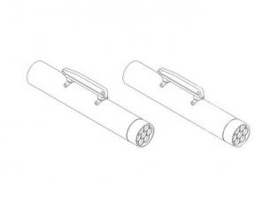 CMK kit amelioration 5078 PODS DE ROQUETTES US M260 HYDRA (2 pcs) 1/32