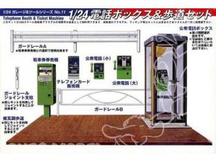 fujimi maquette voiture 11087 accessoires de rue 1/24