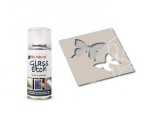 HUMBROL Peinture bombe 7700 Effet verre gravé BLANC