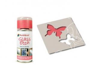 HUMBROL Peinture bombe 7701 Effet verre gravé ROUGE