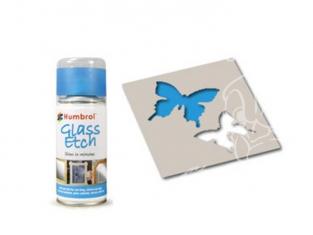 HUMBROL Peinture bombe 7702 Effet verre gravé BLEU