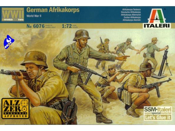 italeri maquette militaire 6076 Africacorps 1/72