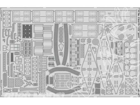 Eduard photodecoupe 53106 U-Boat IXC Premiere partie 1/72