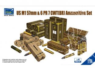 Riich Models maquette militaire 30009 SET DE MUNITIONS POUR CANONS US M1 57mm Et 6pdr 7cwt BRITANNIQUE 1/35