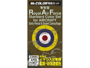peinture Mr Hobby cs683 Pack Royal Air Force WWII Early et desert camouflage