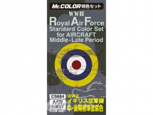peinture Mr Hobby cs684 Pack Royal Air Force WWII Middle - Late period