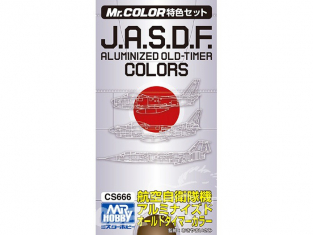 peinture Mr Hobby cs666 Pack JASDF Aluminized old timer Colors