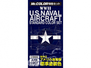 peinture Mr Hobby cs682 WWII US Naval Aircraft Standard color set