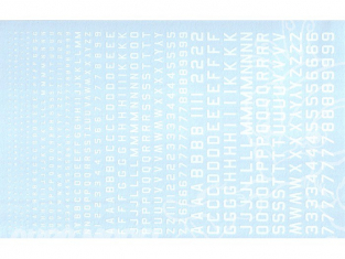Decalques Berna decals BD-04 Chiffres et lettres identification blanc type 45 1-2-3-4-6mm