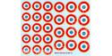 Decalques Berna decals BD-12 Cocardes Francaises 43-82 17-22mm
