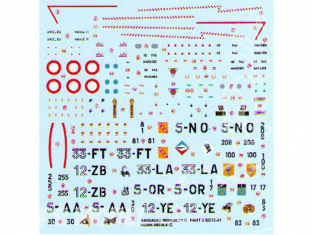 Decalques Berna decals BD72-31 DASSAULT MIRAGE F1 C Partie 3 1/72
