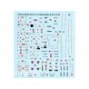 Decalques Berna decals BD72-46 STENCILS & MARKINGS MIRAGE 2000 1/72