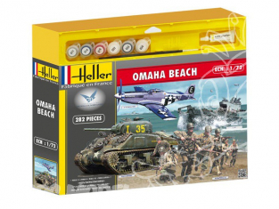 HELLER maquette militaire 53003 OMAHA BEACH kit complet 1/72