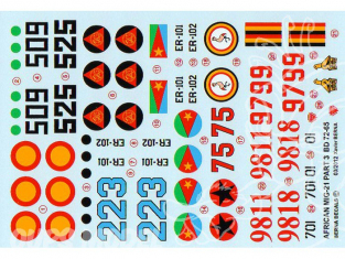 Decalques Berna decals BD72-65 MIG-21 AFRICAN AIR FORCES PARTIE 3 1/72