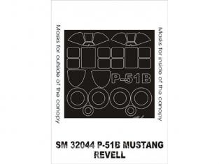 Montex Mini Mask SM32044 P-51B Mustang Revell 1/32
