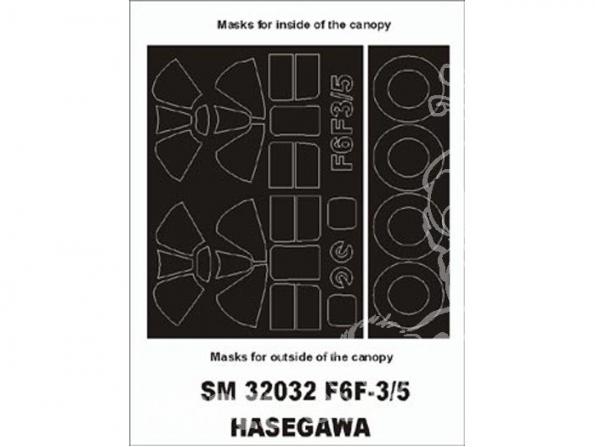 Montex Mini Mask SM32032 F6F3/5 Hellcat Hasegawa 1/32