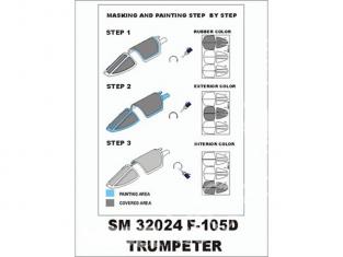 Montex Mini Mask SM32024 F-105D Trumpeter 1/32