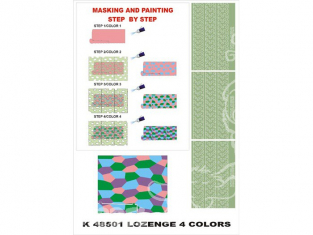 Montex Super Mask K48501 Camouflage Allemand losange 4 couleurs 1/48