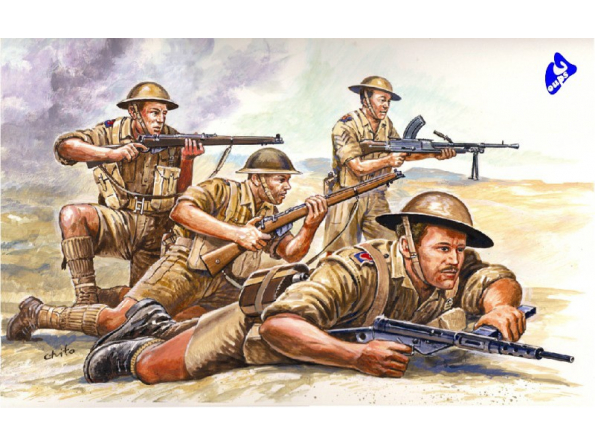italeri maquette militaire 6077 British 8th Army 1/72