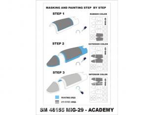 Montex Mini Mask SM48155 MiG-29A Fulcrum Academy 1/48