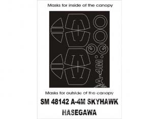 Montex Mini Mask SM48142 Douglas A-4M Skyhawk Hasegawa 1/48