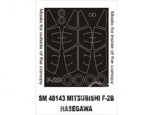 Montex Mini Mask SM48143 Mitsubishi F2B Hasegawa 1/48
