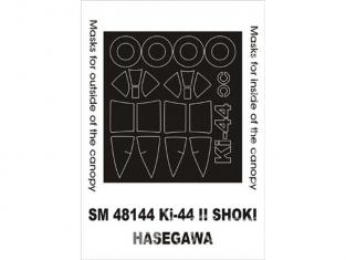 Montex Mini Mask SM48144 Ki-44 II Shoki Hasegawa 1/48