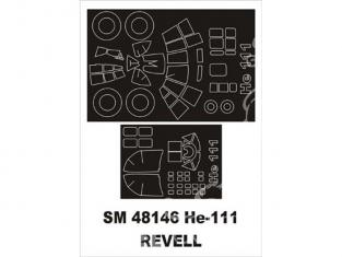 Montex Mini Mask SM48146 Heinkel He-111H Monogram 1/48