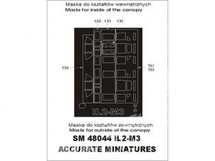 Montex Mini Mask SM48044 IL2-M3 Accurate Miniatures 1/48