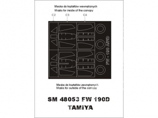 Montex Mini Mask SM48053 Focke Wulf Fw190D-9 Tamiya 1/48
