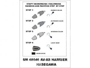 Montex Mini Mask SM48046 AV-8B Harrier Hasegawa 1/48