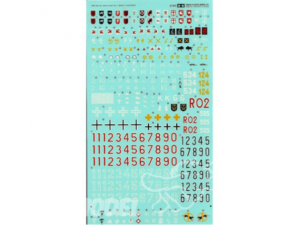 TAMIYA decalques 66451 Divers decals allemand WWII 1/35