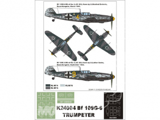 Montex Super Mask K24004 Messerschmitt Bf109G-6 Trumpeter 1/24