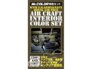 peinture Mr Hobby cs685 Pack Royal Air Force Interieur