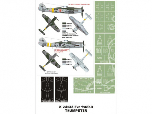 Montex Super Mask K24033 Focke Wulf Fw190D-9 Trumpeter 1/24