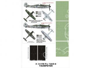 Montex Super Mask K24039 Focke Wulf Fw190D-9 Trumpeter 1/24