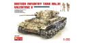 MINI ART maquette militaire 35106 CHAR MOYEN BRITANNIQUE INFANTRY TANK Mk.III / VALENTINE Mk.V 1/35