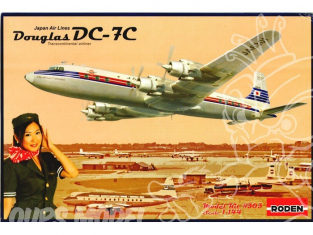 "RODEN maquettes avion 303 DOUGLAS DC-7C ""JAPAN AIR LINES"" 1/144"