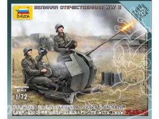 Zvezda maquette plastique 6117 Flak-38 et servants 1/72