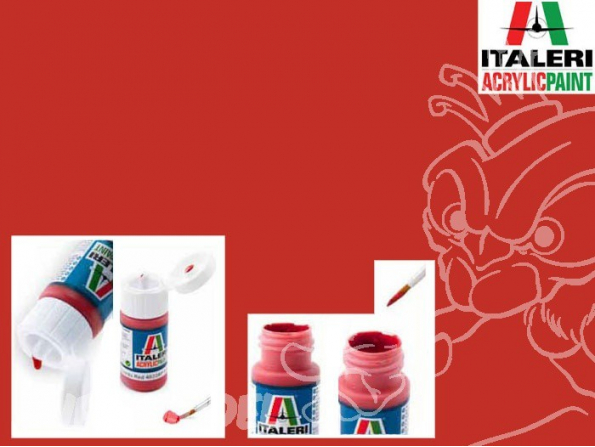 peinture maquette Italeri 4605 Rouge brillant