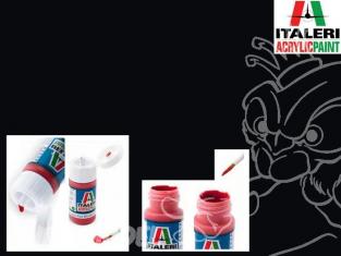 peinture maquette Italeri 4695 Noir brillant