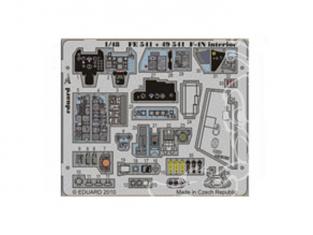 EDUARD photodecoupe avion FE541 Interieur de F-4N 1/48