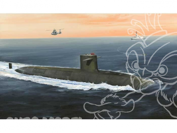 HOBBY BOSS maquette sous marin 83519 LE TRIOMPHANT SSBN 1/350