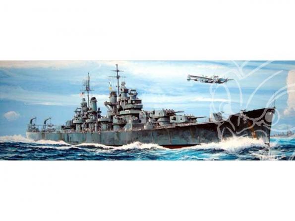 Trumpeter maquette bateau 05724 CROISEUR LOURD USS CA-68 BALTIMORE 1/700