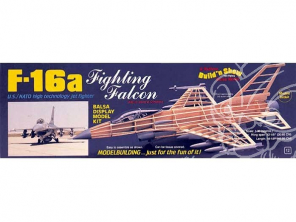 Maquette Guillow&39s avion bois 1403 F-16A FALCON 1/30
